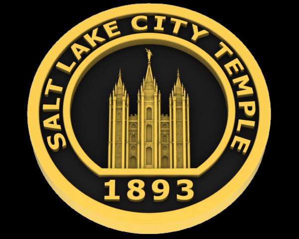 Salt Lake City Utah Temple - Gold