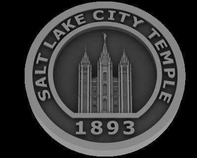 Salt Lake City Utah Temple - Pewter