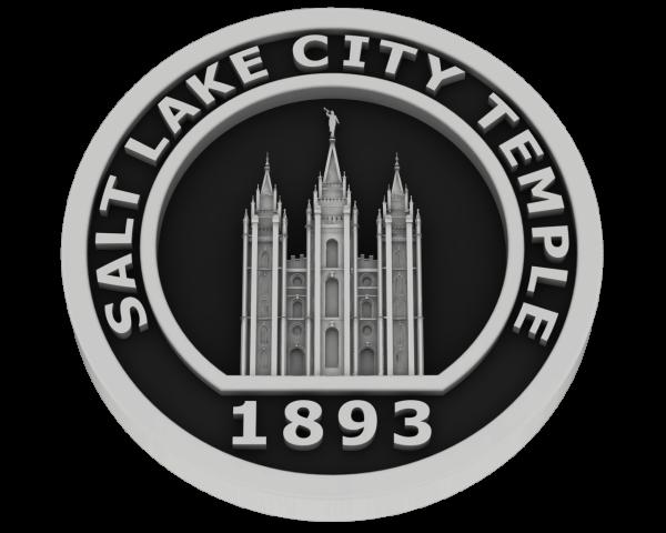 Salt Lake City Utah Temple - Silver