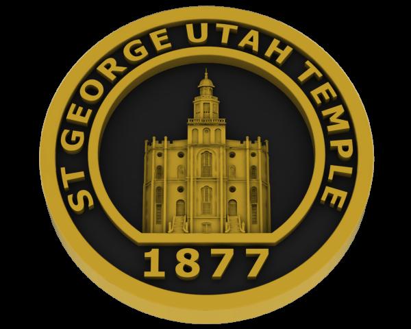 St. George Utah Temple - Brass