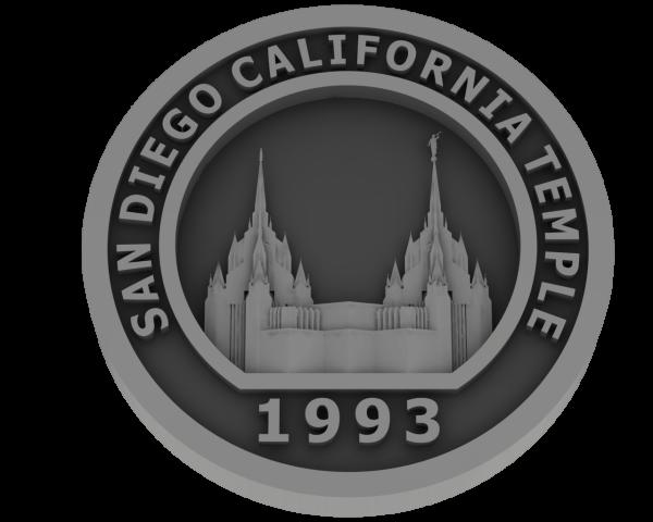 San Diego California, Temple - Pewter