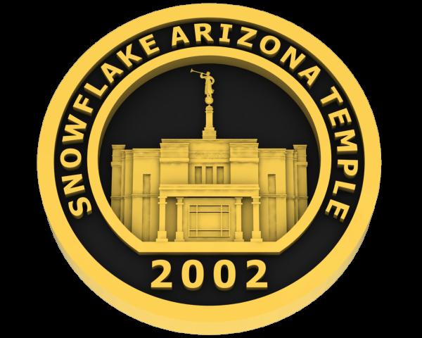 Snowflake, Arizona Temple - Gold