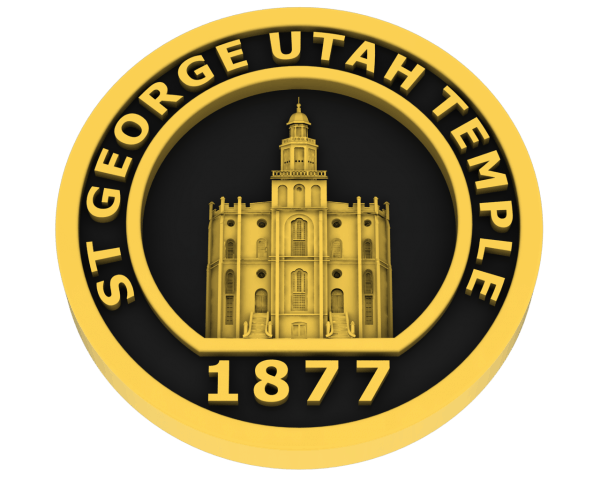 St. George Utah Temple - Gold