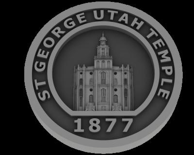 St. George Utah Temple - Pewter