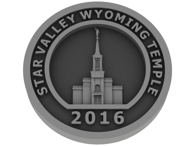 Star Valley, Wyoming Temple - Pewter