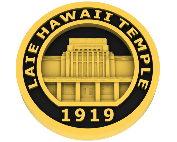 Laie Hawaii Temple -Gold