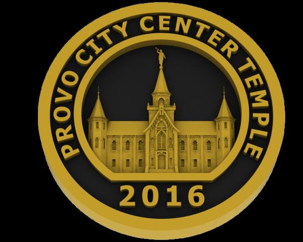 Prove City Center Utah, Temple - Brass