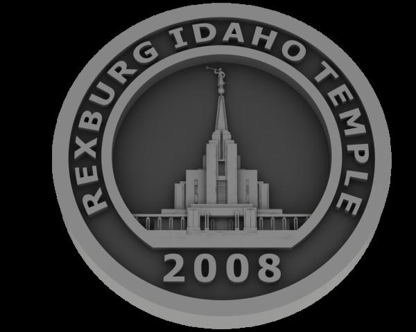 Rexburg, Idaho Temple - Pewter