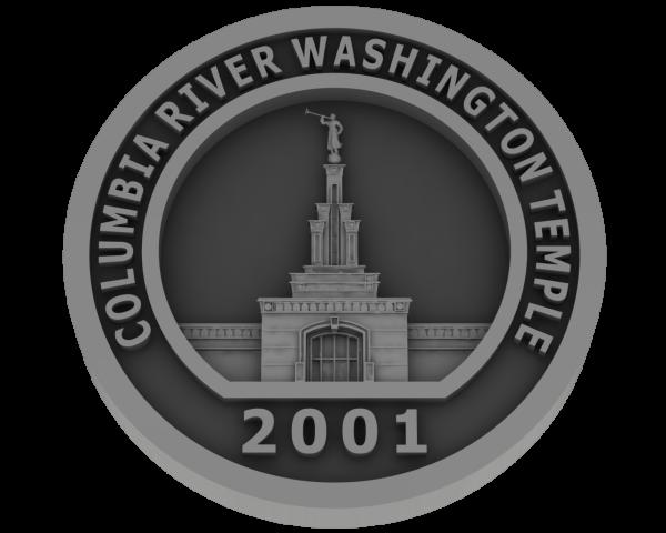 Columbia River, Washington Temple -Pewter
