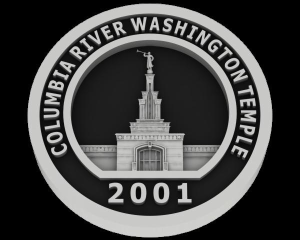 Columbia River, Washington Temple - Silver