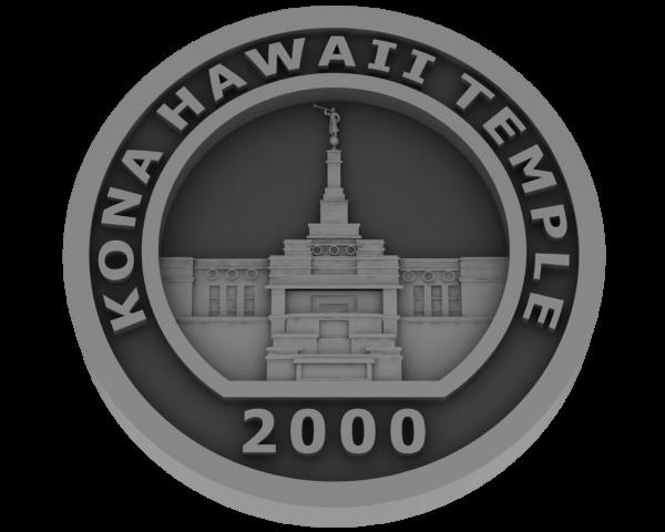 Kona, Hawaii Temple - Pewter