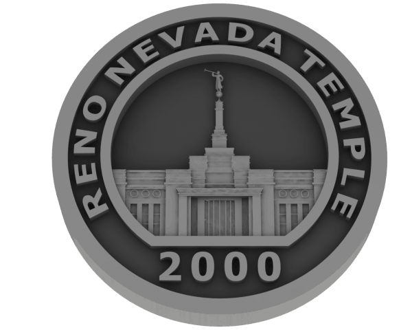 Reno, Nevada Temple - Pewter