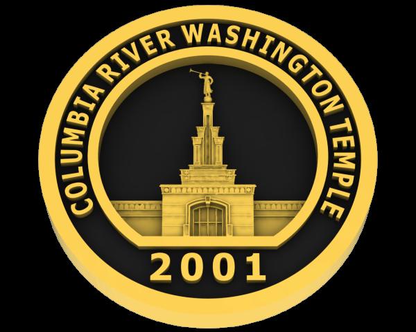 Columbia River, Washington Temple - Gold